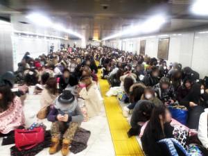 渋谷109 バーゲンセール 行列